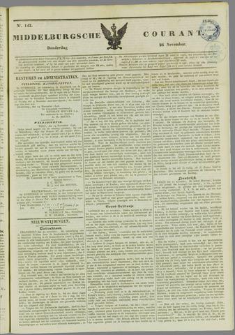 Middelburgsche Courant 1846-11-26