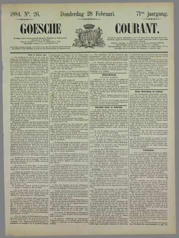 Goessche Courant 1884-02-28