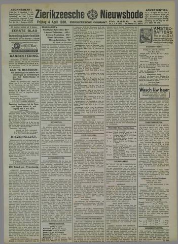 Zierikzeesche Nieuwsbode 1930-04-04