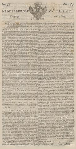 Middelburgsche Courant 1763-05-03