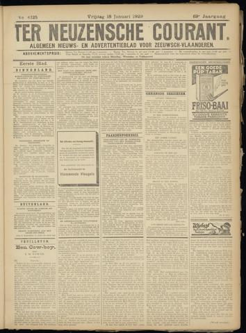 Ter Neuzensche Courant. Algemeen Nieuws- en Advertentieblad voor Zeeuwsch-Vlaanderen / Neuzensche Courant ... (idem) / (Algemeen) nieuws en advertentieblad voor Zeeuwsch-Vlaanderen 1929-01-18