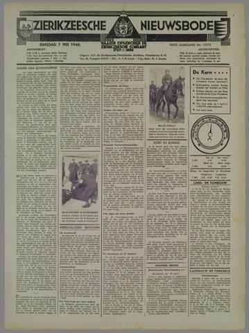 Zierikzeesche Nieuwsbode 1940-05-07