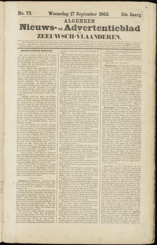 Ter Neuzensche Courant. Algemeen Nieuws- en Advertentieblad voor Zeeuwsch-Vlaanderen / Neuzensche Courant ... (idem) / (Algemeen) nieuws en advertentieblad voor Zeeuwsch-Vlaanderen 1862-09-17