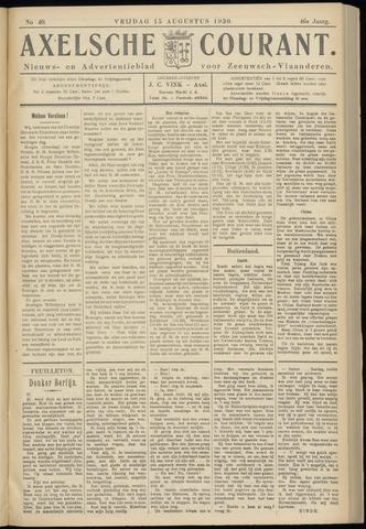 Axelsche Courant 1930-08-15