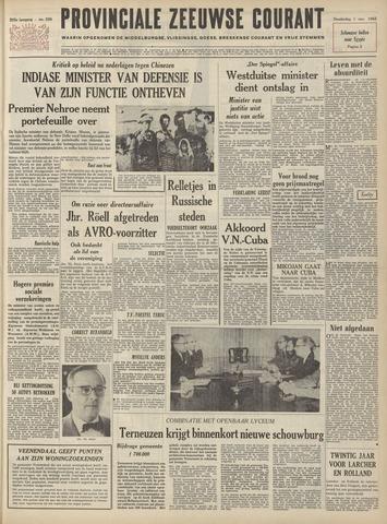 Provinciale Zeeuwse Courant 1962-11-01