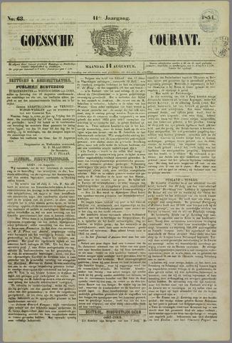 Goessche Courant 1854-08-14