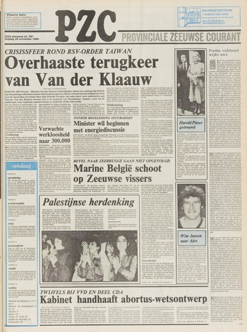 Provinciale Zeeuwse Courant 1980-11-28