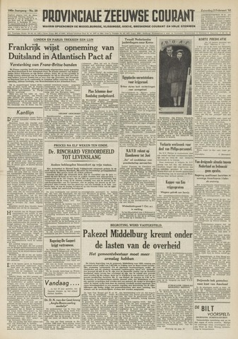 Provinciale Zeeuwse Courant 1952-02-02
