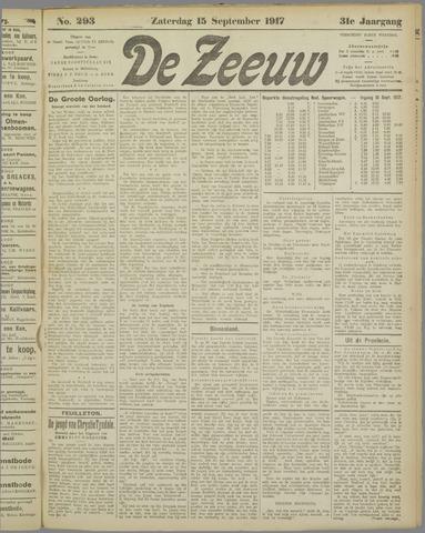 De Zeeuw. Christelijk-historisch nieuwsblad voor Zeeland 1917-09-15
