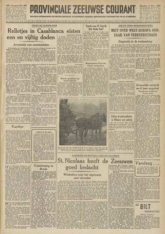 Provinciale Zeeuwse Courant 1952-12-09