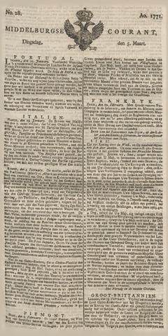 Middelburgsche Courant 1771-03-05