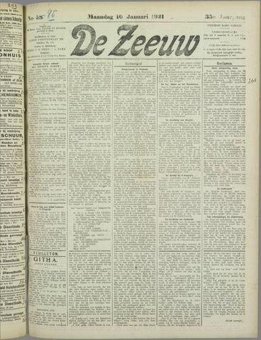 De Zeeuw. Christelijk-historisch nieuwsblad voor Zeeland 1921-01-10