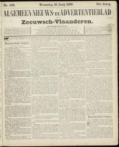 Ter Neuzensche Courant. Algemeen Nieuws- en Advertentieblad voor Zeeuwsch-Vlaanderen / Neuzensche Courant ... (idem) / (Algemeen) nieuws en advertentieblad voor Zeeuwsch-Vlaanderen 1869-06-16