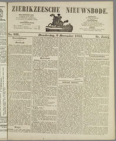 Zierikzeesche Nieuwsbode 1852-12-09