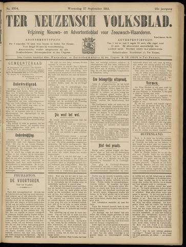 Ter Neuzensch Volksblad. Vrijzinnig nieuws- en advertentieblad voor Zeeuwsch- Vlaanderen / Zeeuwsch Nieuwsblad. Nieuws- en advertentieblad voor Zeeland 1911-09-27