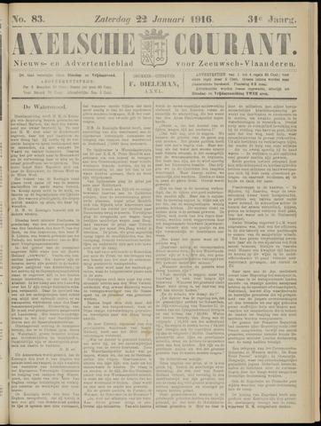 Axelsche Courant 1916-01-22