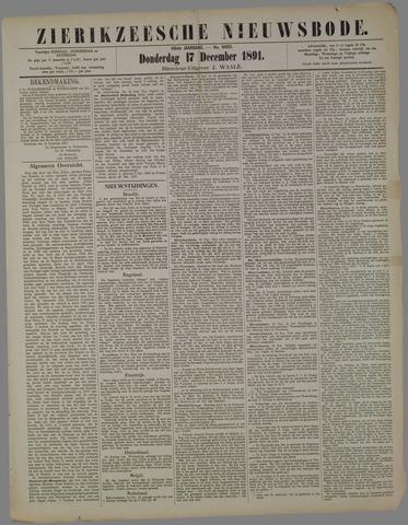 Zierikzeesche Nieuwsbode 1891-12-17