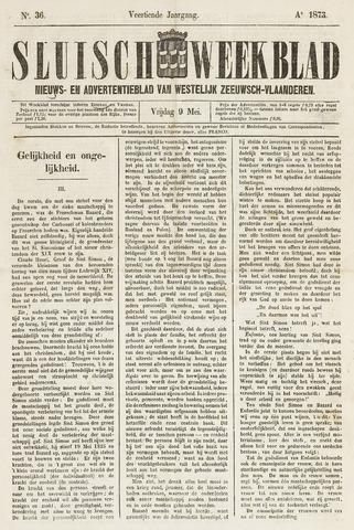 Sluisch Weekblad. Nieuws- en advertentieblad voor Westelijk Zeeuwsch-Vlaanderen 1873-05-09
