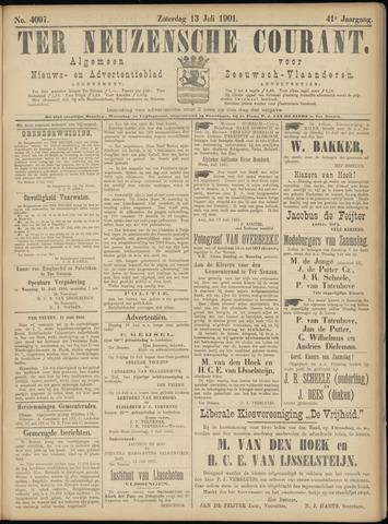 Ter Neuzensche Courant. Algemeen Nieuws- en Advertentieblad voor Zeeuwsch-Vlaanderen / Neuzensche Courant ... (idem) / (Algemeen) nieuws en advertentieblad voor Zeeuwsch-Vlaanderen 1901-07-13
