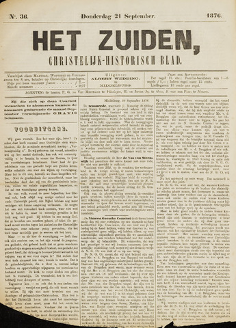 Het Zuiden, Christelijk-historisch blad 1876-09-21