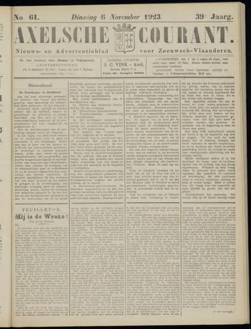 Axelsche Courant 1923-11-06