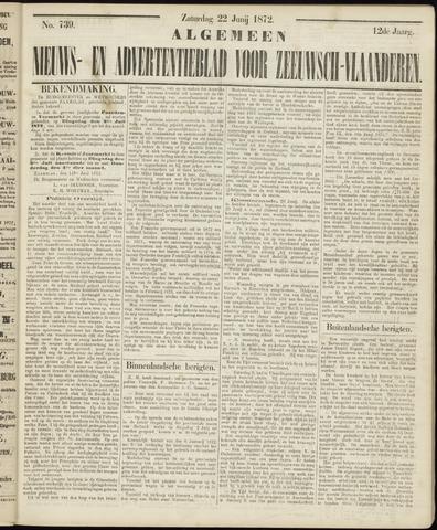 Ter Neuzensche Courant. Algemeen Nieuws- en Advertentieblad voor Zeeuwsch-Vlaanderen / Neuzensche Courant ... (idem) / (Algemeen) nieuws en advertentieblad voor Zeeuwsch-Vlaanderen 1872-06-22