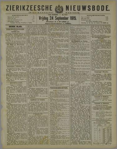 Zierikzeesche Nieuwsbode 1915-09-24