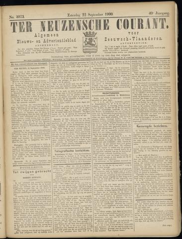 Ter Neuzensche Courant. Algemeen Nieuws- en Advertentieblad voor Zeeuwsch-Vlaanderen / Neuzensche Courant ... (idem) / (Algemeen) nieuws en advertentieblad voor Zeeuwsch-Vlaanderen 1900-09-22