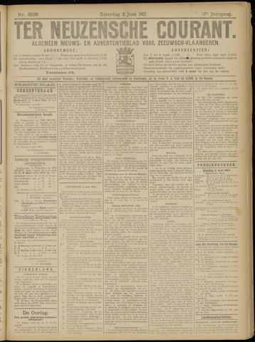 Ter Neuzensche Courant. Algemeen Nieuws- en Advertentieblad voor Zeeuwsch-Vlaanderen / Neuzensche Courant ... (idem) / (Algemeen) nieuws en advertentieblad voor Zeeuwsch-Vlaanderen 1917-06-02