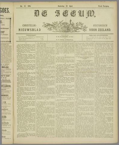 De Zeeuw. Christelijk-historisch nieuwsblad voor Zeeland 1896-04-23