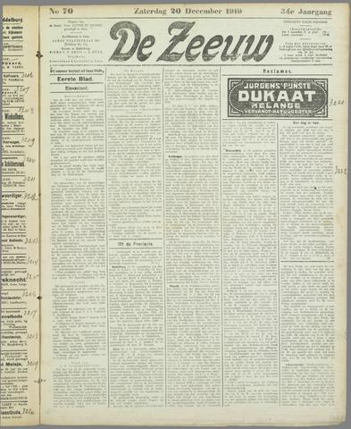 De Zeeuw. Christelijk-historisch nieuwsblad voor Zeeland 1919-12-20
