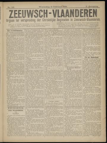 Luctor et Emergo. Antirevolutionair nieuws- en advertentieblad voor Zeeland / Zeeuwsch-Vlaanderen. Orgaan ter verspreiding van de christelijke beginselen in Zeeuwsch-Vlaanderen 1919-02-12