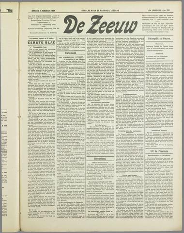 De Zeeuw. Christelijk-historisch nieuwsblad voor Zeeland 1934-08-07