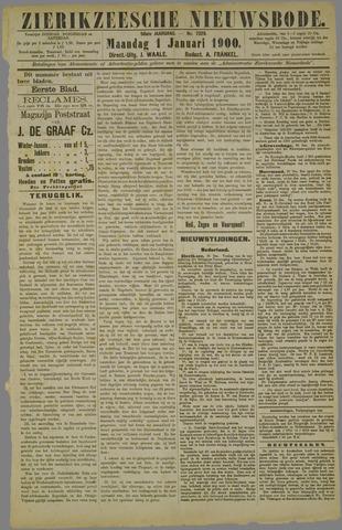 Zierikzeesche Nieuwsbode 1900