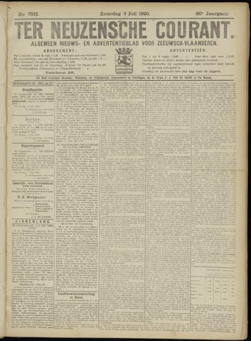 Ter Neuzensche Courant. Algemeen Nieuws- en Advertentieblad voor Zeeuwsch-Vlaanderen / Neuzensche Courant ... (idem) / (Algemeen) nieuws en advertentieblad voor Zeeuwsch-Vlaanderen 1920-07-03