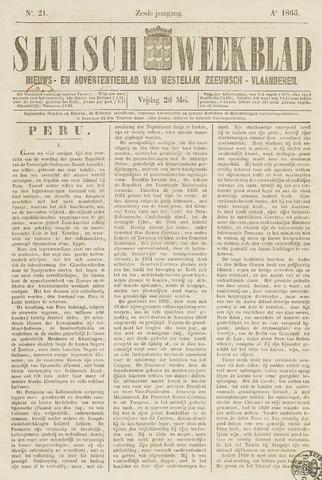 Sluisch Weekblad. Nieuws- en advertentieblad voor Westelijk Zeeuwsch-Vlaanderen 1865-05-26