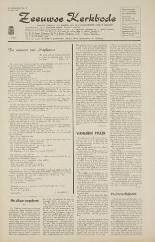 Zeeuwsche kerkbode, weekblad gewijd aan de belangen der gereformeerde kerken/ Zeeuwsch kerkblad 1968-06-20