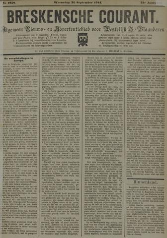 Breskensche Courant 1914-09-30