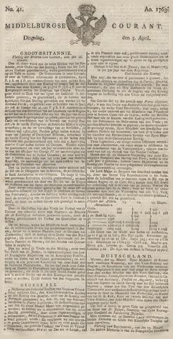 Middelburgsche Courant 1763-04-05
