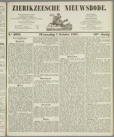Zierikzeesche Nieuwsbode 1863-10-07