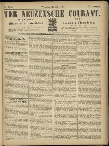 Ter Neuzensche Courant. Algemeen Nieuws- en Advertentieblad voor Zeeuwsch-Vlaanderen / Neuzensche Courant ... (idem) / (Algemeen) nieuws en advertentieblad voor Zeeuwsch-Vlaanderen 1894-07-25
