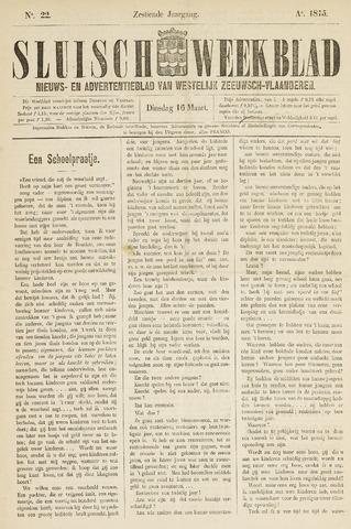 Sluisch Weekblad. Nieuws- en advertentieblad voor Westelijk Zeeuwsch-Vlaanderen 1875-03-16