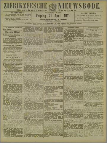 Zierikzeesche Nieuwsbode 1911-04-21