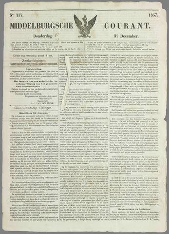 Middelburgsche Courant 1857-12-31