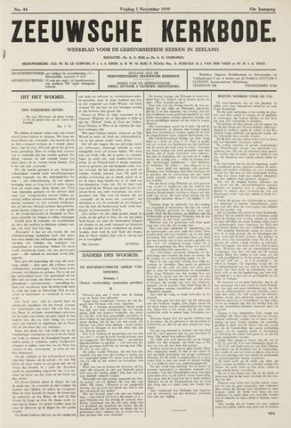 Zeeuwsche kerkbode, weekblad gewijd aan de belangen der gereformeerde kerken/ Zeeuwsch kerkblad 1939-11-03