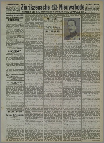 Zierikzeesche Nieuwsbode 1930-10-27