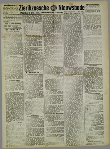 Zierikzeesche Nieuwsbode 1921-12-19
