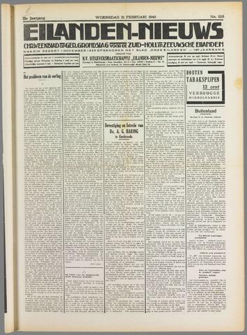 Eilanden-nieuws. Christelijk streekblad op gereformeerde grondslag 1940-02-21