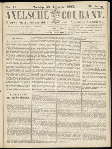 Axelsche Courant 1923-08-28