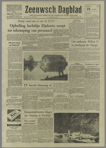 Zeeuwsch Dagblad 1958-01-18